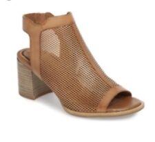NEW Tamaris ViVi Sandals Open Toe Leather Booties Cognac Women's Sz 7.5 8 EU 38