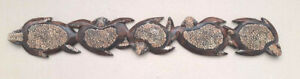Unusual Hand Made Wood Egg Shell Turtle Wall Plaque 100cm Carved Turtle art