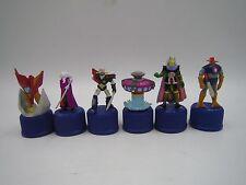 Mazinger Z Getter Robo Great Mazinger Bottle Cap Mini Figure Set of 6 Japan