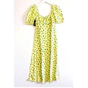 NWT Faithfull the Brand Floral Print Midi Dress, Size 6