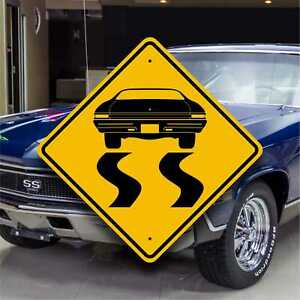 '68 Chevelle SS - Fun Muscle Car Sign - Tires Burning Rubber - Customizable Gift