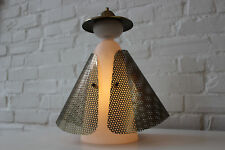 Mid Century Modern 50s chinese figural table lamp manner of fontana arte ASIAN