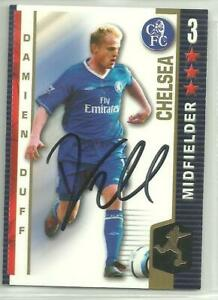 Damien Duff - CHELSEA - Signed Shoot-Out 2004-05 Card [Blue]