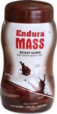 1X500 GRAM NEW ENDURA MASS CHOCOLATE WEIGHT GAINER WITH FREE WORLDWIDE SHIPPING