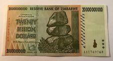 20 miliardi di Zimbabwe DOLLARO BANCONOTA Nuovo di Zecca Fior