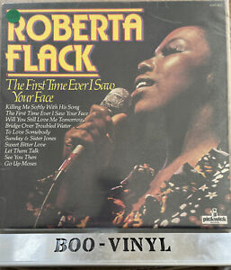 Roberta Flack - Vinyl LP album record The First Time Ever I Saw Your Face UK EX