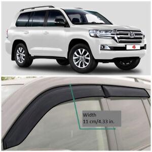 TE21607 Window Visors Vent Wide Deflectors For Toyota Land Cruiser 200 2007-