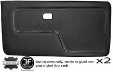 Grey stitch 2X porte avant Carte Lthr Covers Fits BMW 3 Series E30 Coupe Style 2