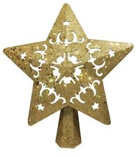 """FONREST Christmas Tree Topper Lighted With Rotating 3D Snowflake Projector 9"""""""