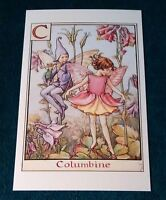 CICELY MARY BARKER FLOWER FAIRIES POSTCARD, THE COLUMBINE FAIRY, ALPHABET
