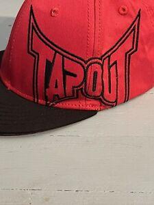 TAPOUT Mens MMA Cap Snapback Adjustable Hat Red Black RN 109028