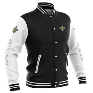 NEW ORLEANS SAINTS Men's Light Buttoned Jacket Football Team Logo Jackets NEW