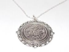 More details for fancy pendant lucky sixpence birthday + 18in sterling silver 1953 - 1967