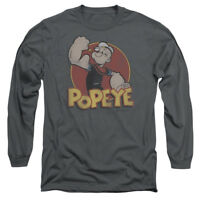 Popeye RETRO RING Vintage Style Licensed Adult Long Sleeve T-Shirt S-3XL