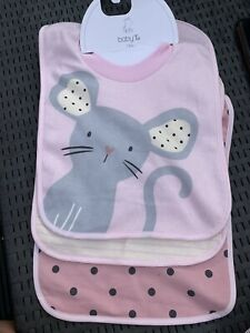 Girls Bibs New With Tag From Tu Pink Cream One Size
