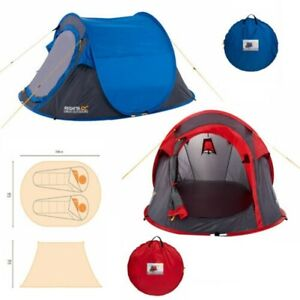 Regatta Malawi 2 Man Pop Up Festival Tent Camping Sports Waterproof Equipment