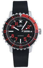 Fortis B-42 Marinemaster Day/Date GMT Automatic Steel Red Mens Watch 670.23.43 K