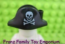 LEGO Pirate Minifig Black Bicorne HAT Skull 6285 6278 6292 6289 6290 6279 6270