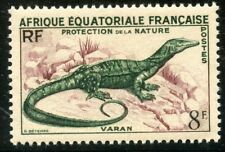 TIMBRE COLONIES FRANCAISES AFRIQUE EQUATORIALE / NEUF N° 231 ** FAUNE / VARAN