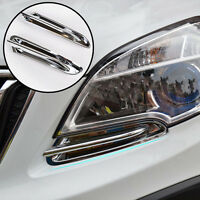 FIT FOR OPEL VAUXHALL MOKKA CHROME FRONT LIGHT TRIM COVER LAMP BEZEL GARNISH