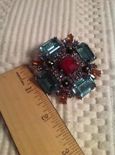 RHINESTONE MALTESE CROSS BROOCH