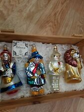 Kurt Adler Polonaise Wizard of Oz Ornaments Set of 4 with crate!