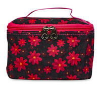 Jenzys Floral Cute Small Designer Travel Cosmetic Makeup Bag Case Make Up