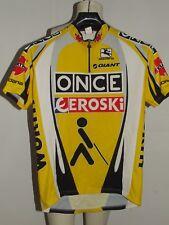 MAILLOT VÉLO HAUT MAILLOT CYCLISME cyclisme équipe ONCE EROSKI GIORDANA taille L