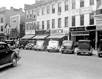 """1938 Downtown Circleville, Ohio Vintage Photograph 8.5"""" x 11"""" Reprint"""