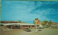 Vintage Arizona AZ Postcard Navajo Trails Motel Cafe  Tes Nex Iah Old Cars