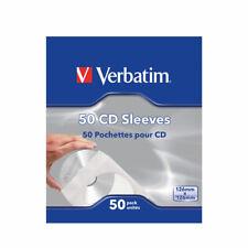 Verbatim CD/DVD Sleeves Paper (Pack of 50) 49992