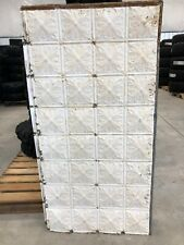 "Antique Metal Tin Ceiling Tile 48"" X 24"" Sheet Panel Reclaim Salvage Victorian"