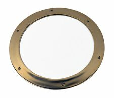"""12"""" Solid Brass Porthole Ring Nautical Round Wall Mount Ship Gold Decor Frame"""