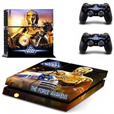 STAR WARS R2D2 & C3PO Vinyl Skin Sticker Set for SONY PLAYSTATION 4 PS4