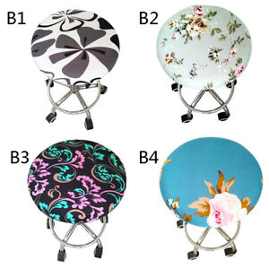 Multi-colors Round Chair Seat Cover Soft Bar Stool Covers Cushions Sleeve