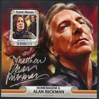 GUINEA BISSAU 2016 TRIBUTE TO ALAN RICKMAN SOUVENIR SHEET MINT NEVER HINGED