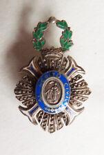 Médaille réduction en argent massif  décoration Ordre MERITO CIVIL Espagne