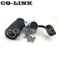 2Pin Waterproof Connector, LP20 IP67 Aviation Power Cable Connector Plug 20A