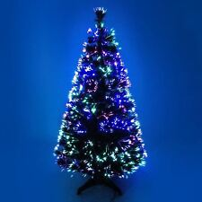 Blue Tips Fibre Optic Prelit Christmas Tree Xmas Light Multicolour Decorations