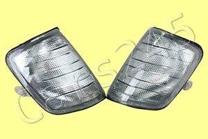 Side Turn Lights PAIR Grey Fits MERCEDES E-Class W124 1985-1993