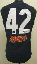 AFL Carlton Blues Player Issue Matchworn Guernsey Jumper #42 Zach Tuohy Signed