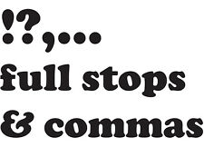 KS2 KS3 Collectible Limited Edition Commas, full stops eBay Punctuation Offer
