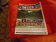 CALCIO  RIVISTA  INTER  FOOTBALL  CLUB  NR 9  SETTEMBRE   1972   POSTER MASSA