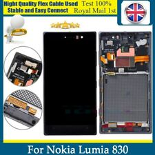 For Nokia Lumia 830 LCD Touch Screen Digitizer Assembly + Fame Replacement Black