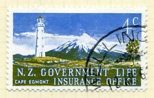 NEW ZEALAND;   1969 early Life Insurance Lighthouse Used value 4c.