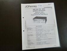 Original Service Manual Schaltplan JCPenny  Model No. 3233