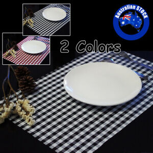 Waterproof Placemat Set PVC Dining Table Bowl Mats Reusable Stain-resistant Pad
