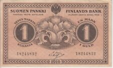 FINLAND BANKNOTE P19-4832 1 MARKAN, 8 DIGITS SERIAL NUMBER, VF+