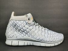 Nike Free Inneva Woven Mid SP Mens Size 6 Running Shoes Matte Silver 800907 002
