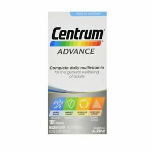 Centrum Advance Multivitamin Tablets - Pack of 100 - Free P&P - 03/2022 Expiry
